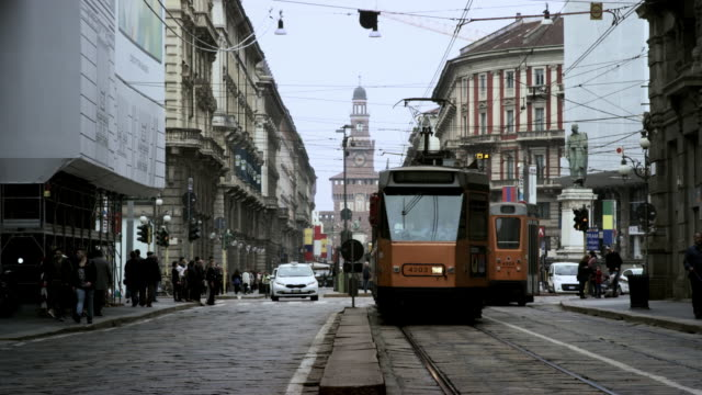 milan tram - milan stock videos & royalty-free footage