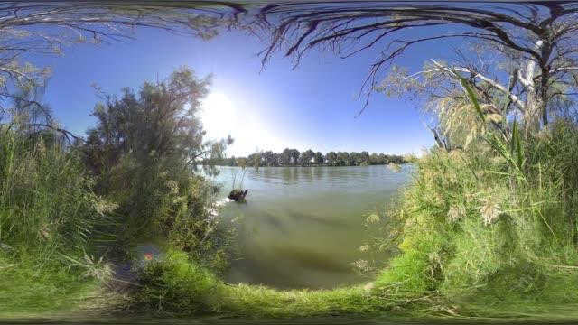 vídeos de stock e filmes b-roll de mildura murray river - panorama equiretangular