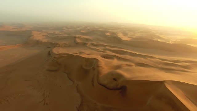 miles and miles of sand - namibian desert stock videos and b-roll footage