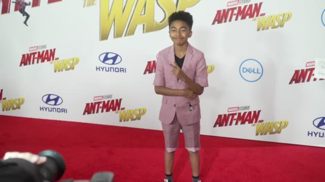 Miles Brown at the 'AntMan and the Wasp' World Premiere at the El Capitan Theatre on June 25 2018 in Hollywood California