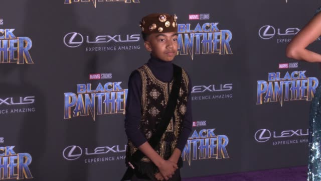 Miles Brown at the Marvel Studios' 'Black Panther' World Premiere at Dolby Theatre on January 29 2018 in Hollywood California