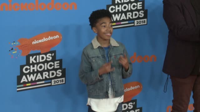 miles brown at the nickelodeon's 2018 kids' choice awards at the forum on march 24 2018 in inglewood california - 31st annual nickelodeon kids' choice awards stock videos and b-roll footage