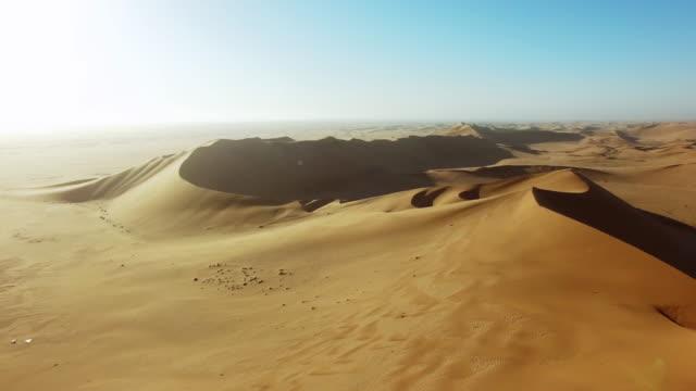 miles of desert sand - namibian desert stock videos and b-roll footage