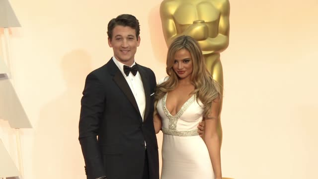 vídeos de stock e filmes b-roll de miles teller at 87th annual academy awards - arrivals at dolby theatre on february 22, 2015 in hollywood, california. - the dolby theatre