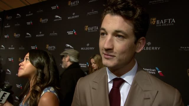 interview miles teller on being in independent films on playing drums on what makes the bafta tea party one of the most prestigious events of the... - tea party stock videos and b-roll footage