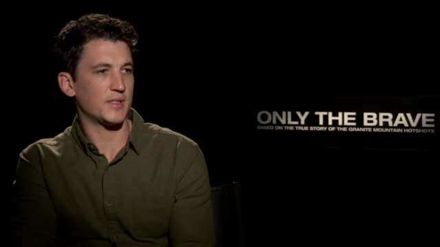 interview miles teller on his character meeting and working with brendan on his own experiences dealing with loss and how that relates to his... - only the brave 2017 film stock videos & royalty-free footage