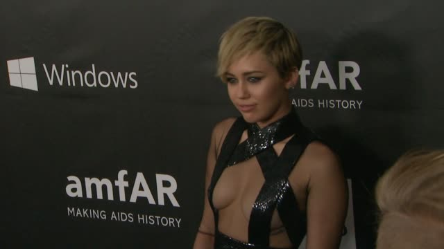 Miley Cyrus at amfAR Inspiration Los Angeles 2014 in Los Angeles CA