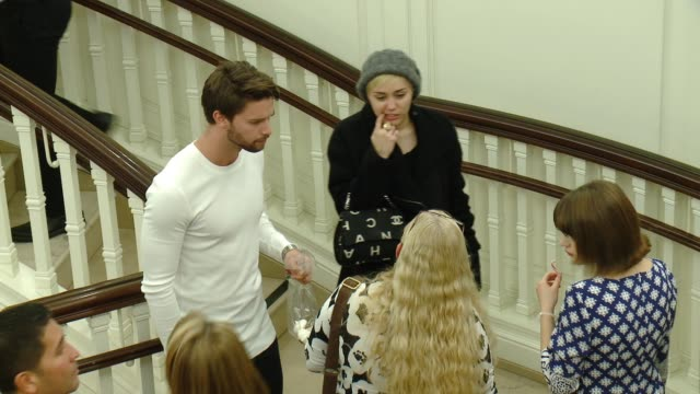 miley cyrus at brooks brothers celebrates the holidays with st jude children's research hospital and town country in los angeles ca - st. jude children's research hospital stock videos and b-roll footage