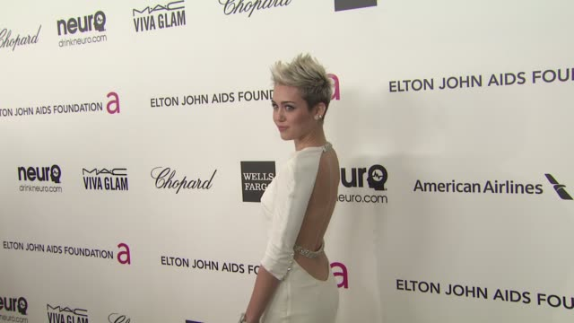 Miley Cyrus at Elton John AIDS Foundation Presents 21st Annual Academy Awards Viewing Party 2/24/2013 in West Hollywood CA