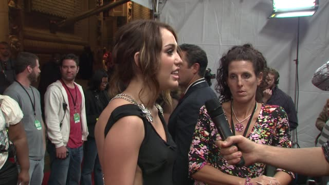 miley cyrus at the 2009 vh1 divas red carpet at new york ny - vh1 divas stock videos and b-roll footage