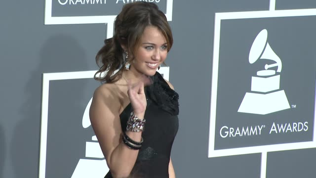 Miley Cyrus at the 51st Annual Grammy Awards Part 4 at Los Angeles CA