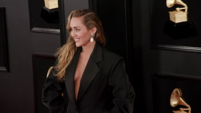 Miley Cyrus at the 61st Grammy Awards Arrivals at Staples Center on February 10 2019 in Los Angeles California EDITORIAL