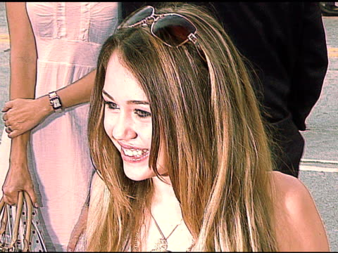 miley cyrus at the 'monster house' los angeles premiere on july 18 2006 - 2006 stock videos & royalty-free footage