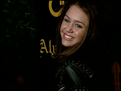 Miley Cyrus at the Sisters Aly AJ Celebrate Their Birthdays with at Les Deux in Hollywood California on May 14 2007