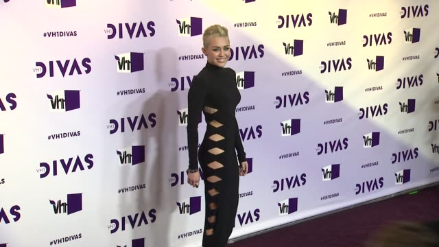 miley cyrus at vh1 divas 2012 on in los angeles ca - vh1 divas stock videos and b-roll footage