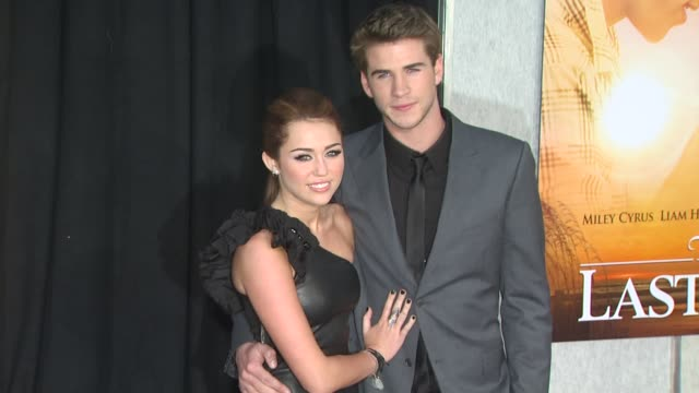 Miley Cyrus Liam Hemsworth at the 'The Last Song' Premiere at Hollywood CA