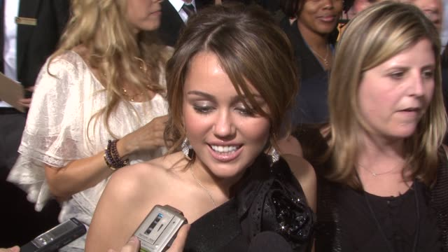 Miley Cyrus on favorite guilty pleasure television show at the 51st Annual Grammy Awards at Los Angeles CA