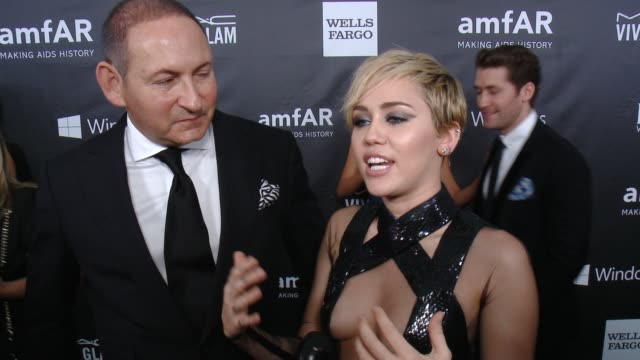 INTERVIEW Miley Cyrus on why she wanted to support amfAR talks about her MAC Viva Glam campaign and how Tom Ford inspired her at amfAR Inspiration...