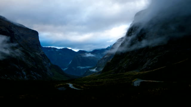 milford sound, fiordland, new zealand - tranquil scene stock videos & royalty-free footage