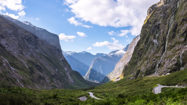 milford sound, new zealand - north island new zealand stock videos & royalty-free footage