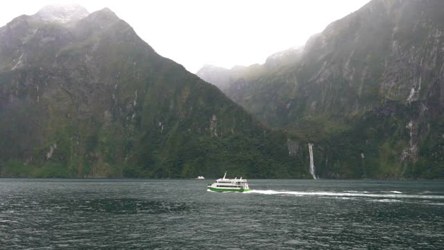 milford sound,new zealand - fjord stock videos & royalty-free footage