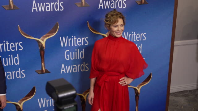 mili avital at the 2020 writers guild awards at the beverly hilton hotel on february 01, 2020 in beverly hills, california. - the beverly hilton hotel stock videos & royalty-free footage