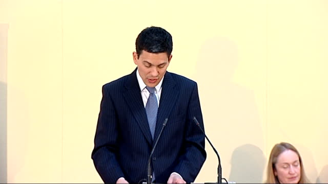 Miliband speech at publication of Human Rights Report But as much as we work to support democratic progress we also need to be alive to the risk of...