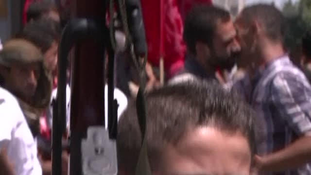 militants of the popular front for the liberation of palestine held a rally in gaza city on tuesday to celebrate a week of truce between israel and... - hamas stock videos & royalty-free footage
