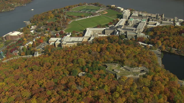 AERIAL Military Academy campus / West Point, New York, United States