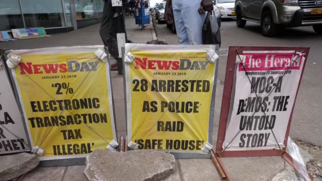 military accused of using 'systematic torture' to break up protests; zimbabwe harare; kudzayi kadzere interview, nick mangwana interview, anonymous... - newspaper headline stock videos & royalty-free footage