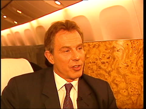 lunchtime news wrap itn tony blair mp interview sot unless you prepare to the ground to resolve these difficulties you are stuck with the present... - war in afghanistan: 2001 present stock-videos und b-roll-filmmaterial