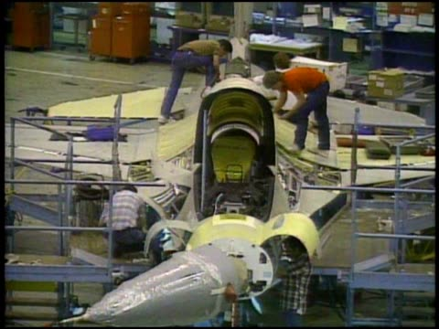 military aircraft assembled in factory and taking off - stealth stock videos and b-roll footage