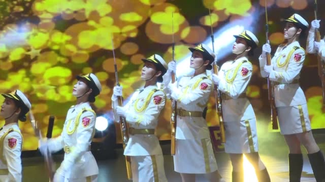 military bands from china and overseas participate in an international military tattoo in hong kong as part of celebrations to mark 20 years since... - body adornment stock videos and b-roll footage