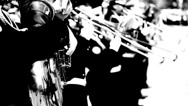 military brass band - wind instrument stock videos & royalty-free footage