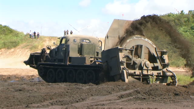 military bulldozer - construction vehicle stock videos and b-roll footage