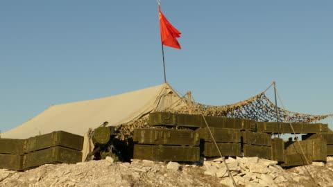militära lägret sovjetiska trupper i afghanistan - tidigare sovjetunionen bildbanksvideor och videomaterial från bakom kulisserna