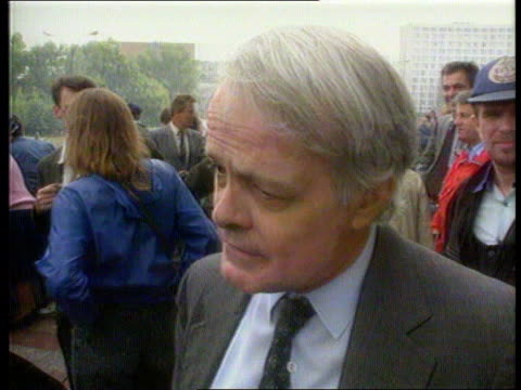 gorbachev returns itn ext tms crowds waving cheering sof tms ditto cms ditto ms soldier ditto ms arms raised cms rodric braithwaite intvw sof for the... - former soviet union stock videos & royalty-free footage