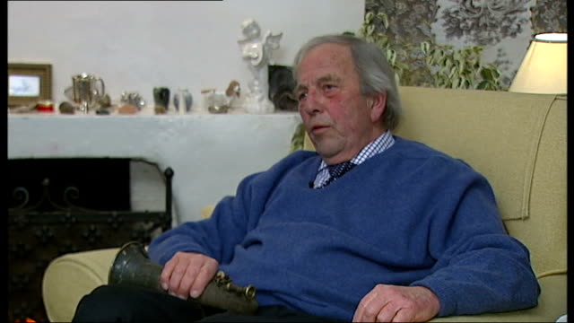 military cross of war poet wilfred owen stolen from nephew's home; england: surrey: int peter owen interview sot - poet stock videos & royalty-free footage
