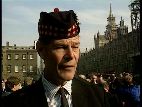 defence cuts cms lt gen sir john macmillan intvw sof the scottish regiments have been able to recruit unlike some other regiments/its madness to axe... - petition stock-videos und b-roll-filmmaterial