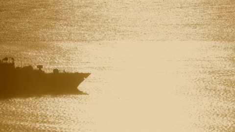 military destroyer on the ocean at sunset - warship stock videos & royalty-free footage