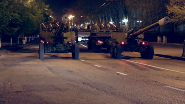 military equipment on the night streets - armoured vehicle stock videos and b-roll footage