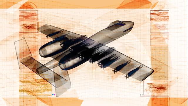 militär düsenjäger schematic 3d-design - jagdflugzeug stock-videos und b-roll-filmmaterial