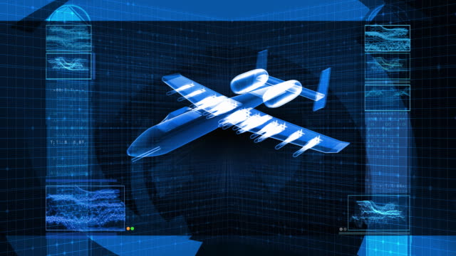military fighter jet 3d design schematic - fighter stock videos and b-roll footage