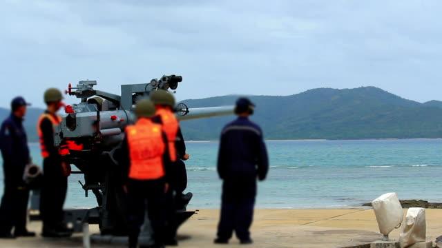 military gun - sevastopol crimea stock videos and b-roll footage