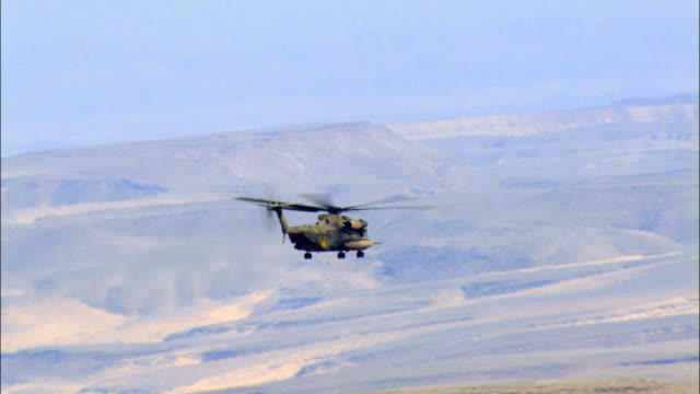 aerial military helicopter flying above the desert, israel - israeli military stock videos & royalty-free footage