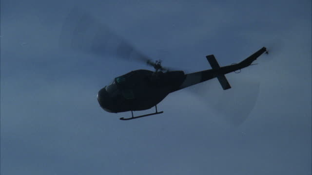 MS POV Military helicopter flying