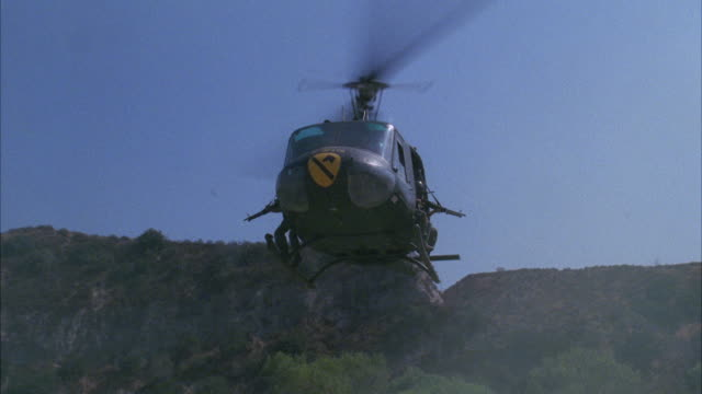 ms military helicopter landing in ground - military helicopter stock videos and b-roll footage