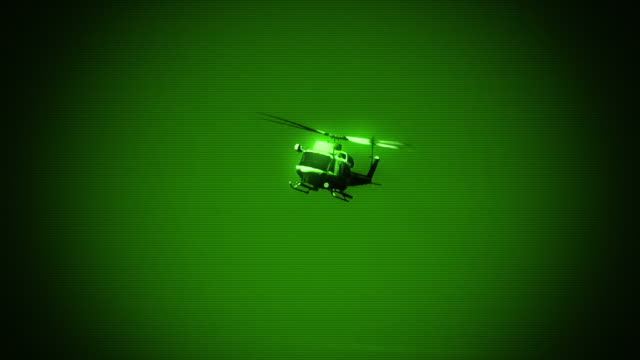 military helicopter - night vision stock videos and b-roll footage
