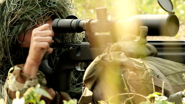 military in the field : special forces soldiers preparing to fire. - sniper stock videos & royalty-free footage