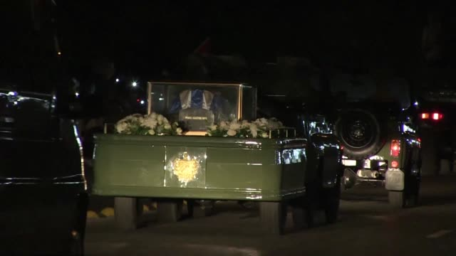 a military jeep takes the ashes of fidel castro on a four day journey across cuba with islanders lining the roads to bid farewell to the late... - decorative urn stock videos and b-roll footage